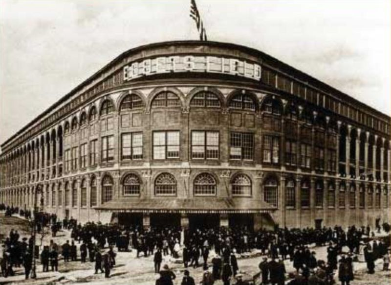 Ebbets Field, home to the Brooklyn Dodgers