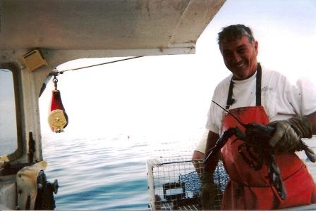 Captain Bill Parkerton, on his boat the MFV Jackpot, who showed great patience and from whom I learned much