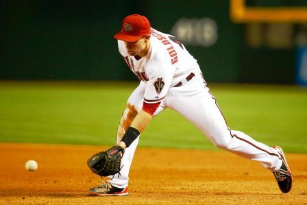 Slow roller, extend your glove out in front, go to and through the ball.