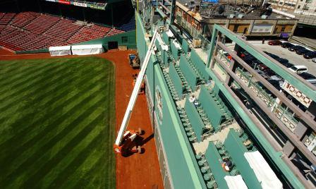 Recent additions to Fenway's Green Monster