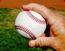 gripping baseball