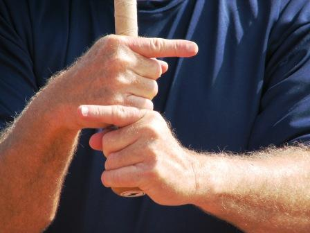 hitting, incorrect grip