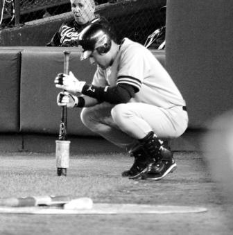 focusing on an upcoming at bat