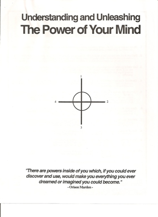 Power of your mind, worksheet