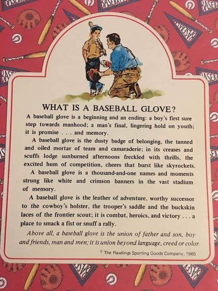 What is a baseball glove?