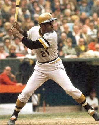 Roberto Clemente always went to the plate swinging