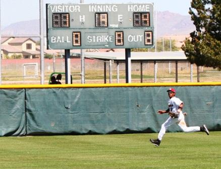 running down a fly ball