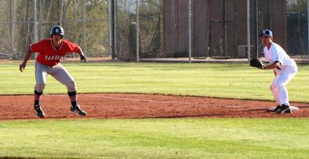 extended lead to draw a pickoff throw