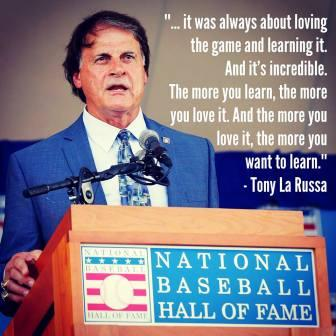 Tony La Russa, Hall of Fame Induction Speech