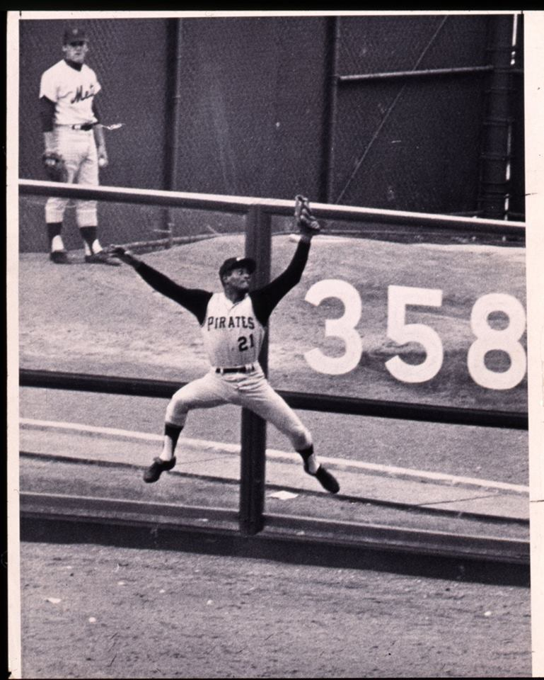 Clemente at the fence