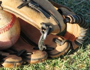 baseball glove and ball, it all starts here