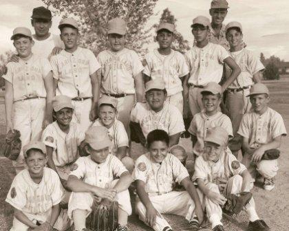 Tucson Little League 1959, I Am The Odd Looking Kid Under Mr. Livingston's Right Arm