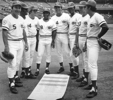 Pete Rose, third from left