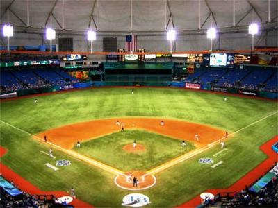 Tropicana Field, Home to the Tampa Bay Rays