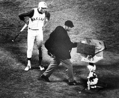 Charlie Finley's Experiment With A  Rabbit Named Harvey, Pop Up Ball Machine, 1969